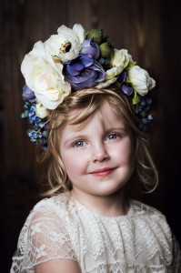 красивый венок в голубые цветы