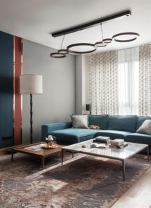 Modern apartments with сopper accents-17