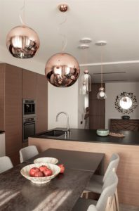 Modern apartments with сopper accents-19