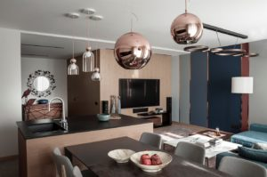 Modern apartments with сopper accents-20