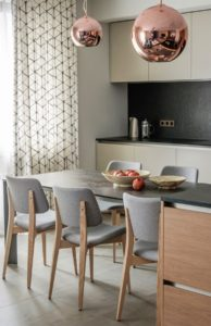 Modern apartments with сopper accents-23
